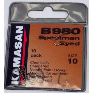 Kamasan B980 Specimen Eyed Hooks